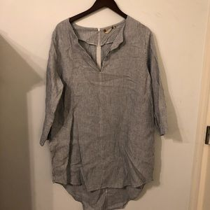 Soft Surroundings Linen Tunic Top